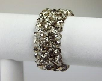 Crystal Bridal Bracelet,  Champagne Crystal Bridal Bracelet, Crystal Bridal Jewelry, Wedding Jewelry, Blue Crystal Bridal Bracelet