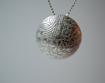 Photo etched Domed Pendant