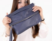 Model: CRISTEL - Hand/Shoulder Bag - Crossbody bag - Pochette - Gray blue