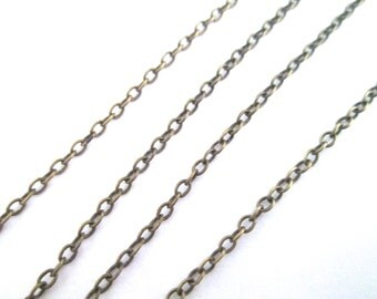 Soldered Brass Plated Round Cable Cross Chain, Pick Your Length, C027Y