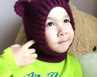 NEW 3T-5T Teddy Bear wool hat  #74