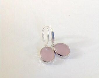 Dangle Earrings / Pink earrings / wife gift, girlfriend gift earrings/ Bridesmaids gifts / Blush pink Wedding Jewelry, Unique,short earrings