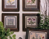 BLACKWORK Flowers of the Field - Embroidery Cross Stitch IMAGINATING #82 Lauren Guarnieri 1991