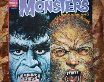 Famous Monsters No 96 Wolfman Issue Frankenstein Dracula Schlock Lycanthrope Horror Sci Fi
