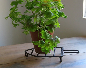 Forged Hearth Trivet, , Fireplace Sad Iron, Plant Pot Riser Stand