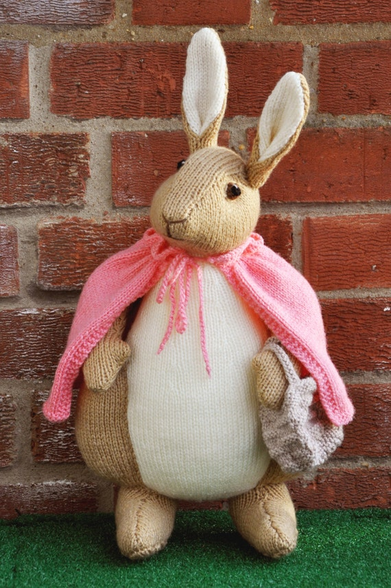 Hand Knitted Toys : Hand knitted toy beatrix potter flopsy bunny from alan dart