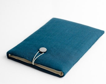 Mac Air 13 case, Macbook Pro 13 sleeve, dark teal, available with a pocket