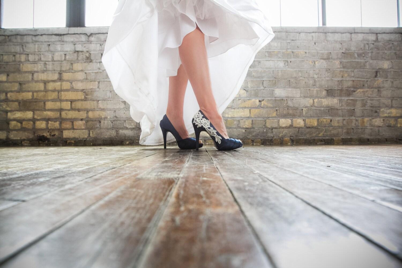 Wedding shoes navy blue wedding heels navy blue heels blue for Blue shoes for wedding dress