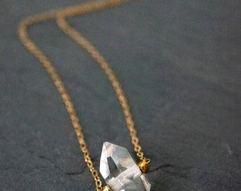 Quartz Necklace // Quartz Crystal // Raw Quartz // Clear Quartz
