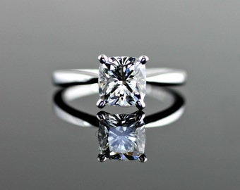 Classic V Prong Tapered Solitaire Engagement Ring