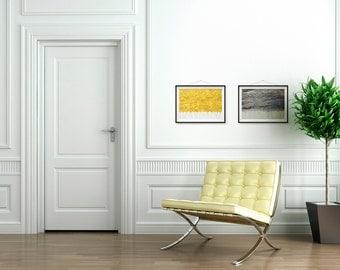 Grey And Yellow Wall Art yellow gray wall art | etsy