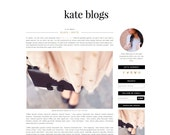 Kate Blogger Template - Blogger Theme - Premade Blogger - Pink Black Gold Fashion Lifestyle Feminine