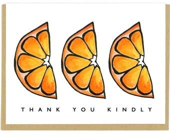 Orange Thank You Card