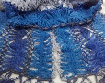 Handmade Wholewool Crochet knitting Scraf