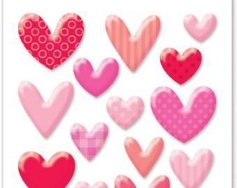 SALE! Hearts Sprinkles Shapes from Doodlebug Design
