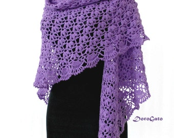 Crochet Triangle Shawl Patterns For Beginners : Crochet Scarf Pattern Triangle Scarf Pattern Fringe Scarf