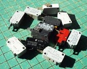 used micro switches, 10 count, electrical control, limit switch,  various ratings, 15A 125VAC is common, upcycle, recycle, repurpose, maker