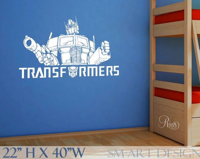 Optimus Prime Transformers Wall Art Decal Vinyl sticker home decor boy bedroom autobot kids