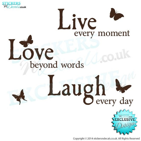 Beyond Words Customizable Wall Decor Kohls : Live every moment love beyond words laugh day vinyl