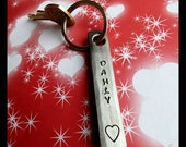 HEART KEYCHAIN - Personalization Option Available - Hand Made & Signed by Blacksmith Naz - Gift for Her for Him  Personalized