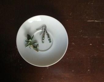 Green Melon Earrings minimalist by Nancelpancel on Etsy