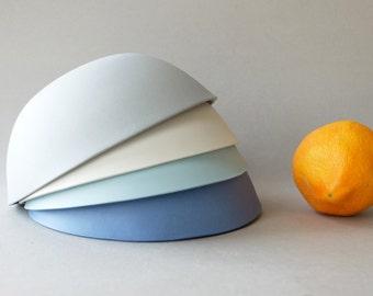 Ceramic bowl set,pasta bowl,rustic pottery,salad bowl,modern pottery,stoneware bowl,porcelain dinnerware,blue bowl,wedding gift for couple