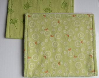 Organic Baby Burp Cloth Set of 2
