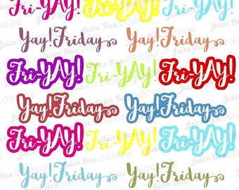 Set of Fri-yay! and Yay! Friday Stickers