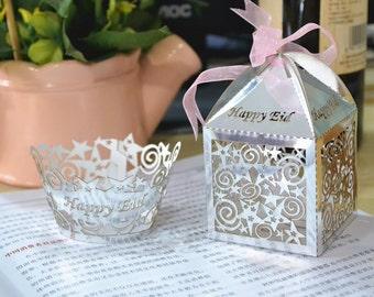 Happy Eid Cupcake Wrapper & Favor Box