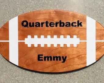 Customizable Football Shaped Sign