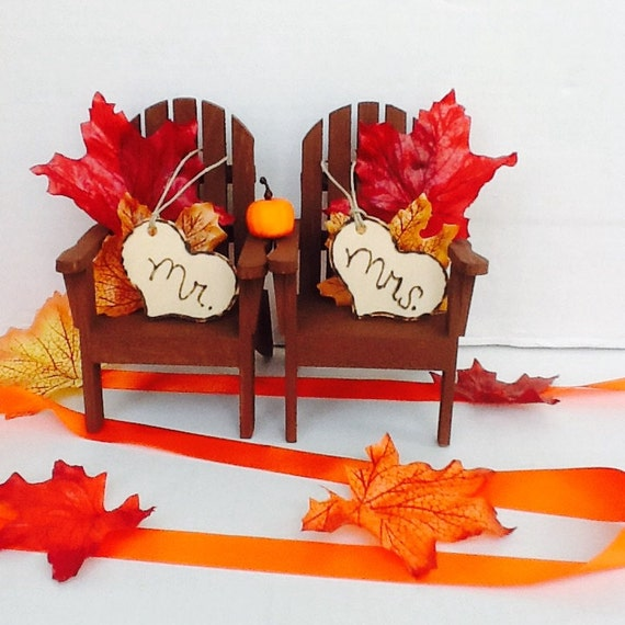 fall wedding cake toppers items similar to fall chair cake toppers fall wedding cake 4022