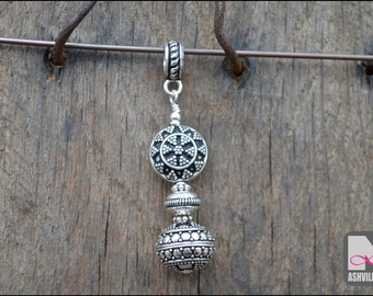 Sterling Silver Bali Bead Pendant (SP102)