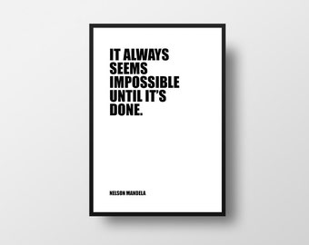 Nelson Mandela, Learning Quote, Leader Quotes, Learning, Teaching, Classroom Decor, Motivational Print, Typographic Print, Inspirational