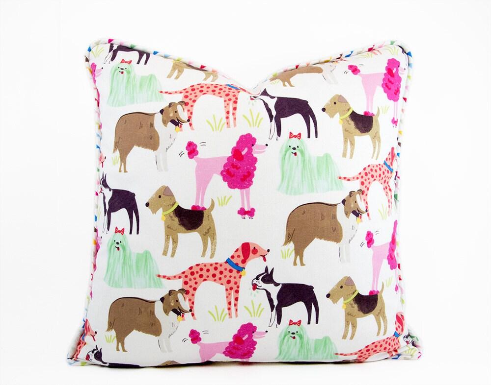Dog Pillow Cover Kids Cushions Dog Decor Dog Lover Gift