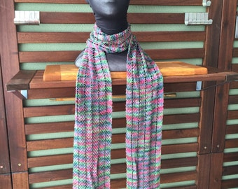 Beaded Silk and Rayon Scarf