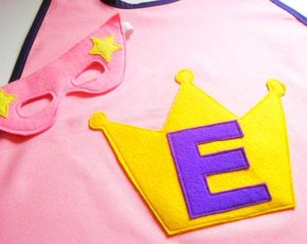 Personalised Princess Cape - Girls Superhero Cape - Princess Costume - Princess Party - Custom Cape - Fancy Dress - Dress Up Superhero Party