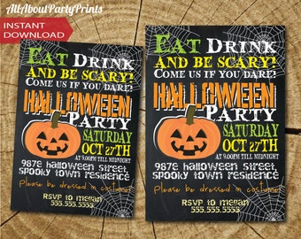 INVITATION ONLY-PDF format-Halloween invitation Printable