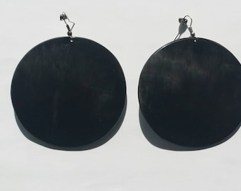 Big round earrings