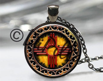 Zia Symbol Pendant with Matching Chain