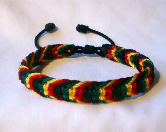 Very Nice Rasta Colors Bracelet
