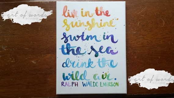 Live In The Sunshine Swim In The Sea Drink By