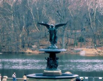 New York Print - Central Park Print - Bethesda Fountain Print - New York Decor - Central Park Decor - Central Park Photo - Art Decor - USA