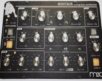 Custom Printed Moog Minitaur analog bass synthesizer Mouse pad mouse mat computer mouse pad mousepad Computer Gift