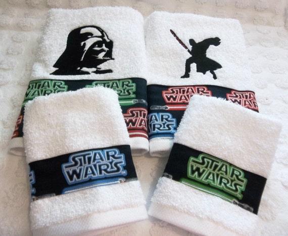 star wars darth vader 2 designs set de 2 serviettes de etsy. Black Bedroom Furniture Sets. Home Design Ideas