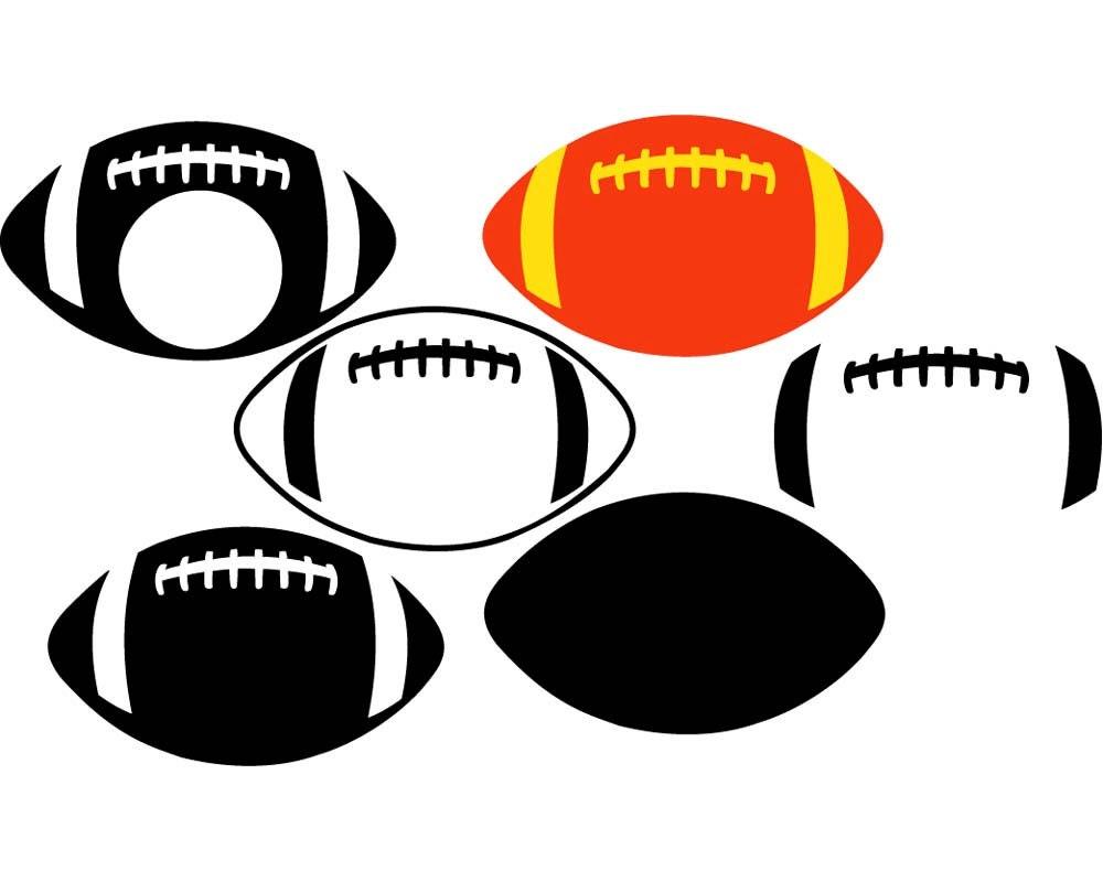 Football Frames For Monograms Svg Dxf Eps For Cricut