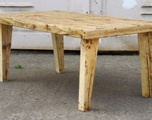 RECLAIMED WOOD COFFEETABLE - The medievil all natural timber coffee table - Handmade and customized