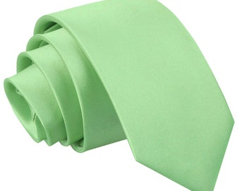 Satin Lime Green Boy's Tie