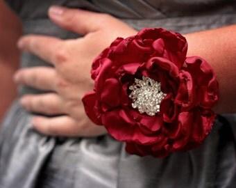 Fabric Corsage | Wedding Wrist Corsage | Prom Corsage | Mother of the Bride Corsage | Wrist Corsage | Rustic Wedding Corsage | Shabby Chic