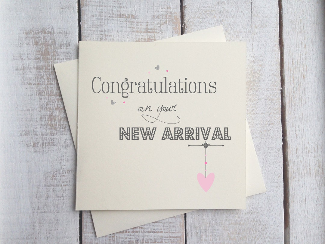 New Baby Girl Card / Congratulations On Your New Arrival