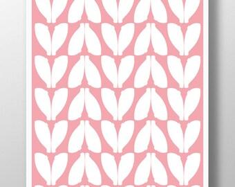 Digital wall art,Baby Girls Wall Decor,Pink Wall Art,Baby Girl Nursery Print,Pink Print,Girls Room Art,Abstract Nursery Art,Midcentury Moder